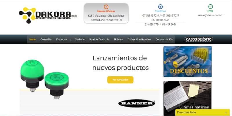 Paginas web para empresa en chia